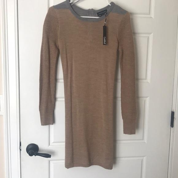 7aef44f6e0e Tan grey sweater dress. NWT. Cynthia Rowley